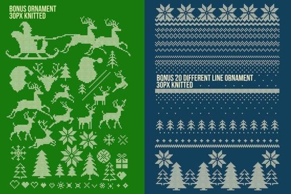5 Bonus ornaments 580x386 - Stiahnite si set Christmas Sweater Photoshop efektov za 15 dolárov!