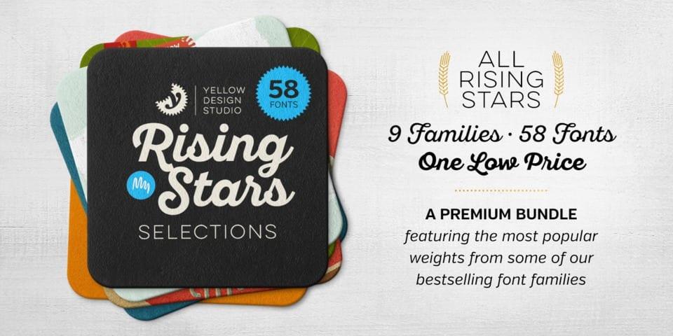 218904 - Font dňa – Yellow Design Studio Rising Stars Selections