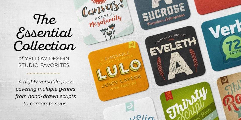 218907 - Font dňa – Yellow Design Studio Rising Stars Selections