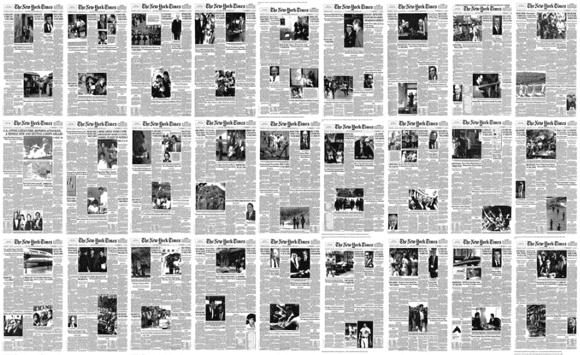 times - Pohyblivá inšpirácia – Every NYT front page since 1852
