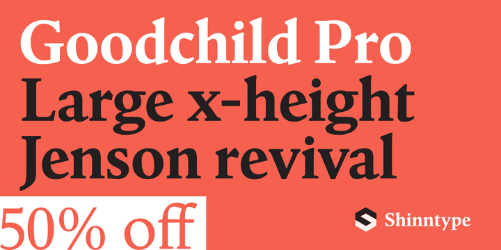 226452 - Font dňa – Goodchild Pro