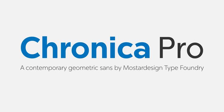 227820 - Font dňa – Chronica Pro
