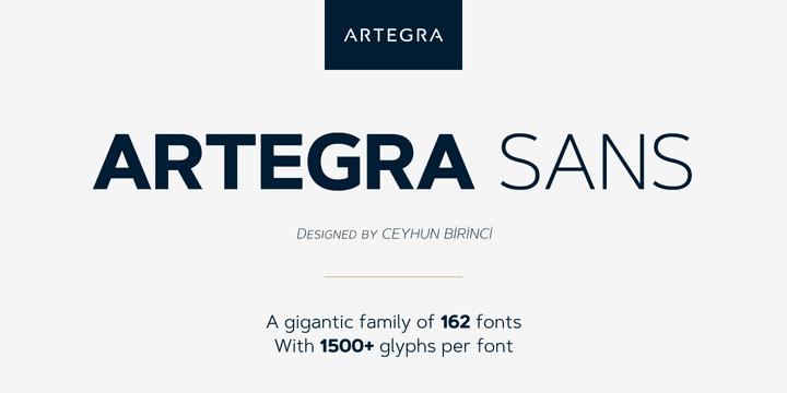 228523 - Font dňa – Artegra Sans
