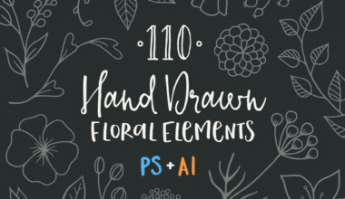 cover 2 380x220 - 110 ručne kreslených floral prvkov zadarmo