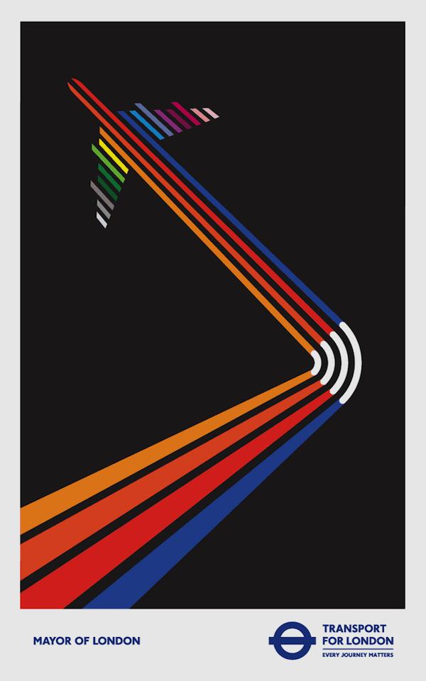 1 - Minimalistické postery Londýnskeho metra