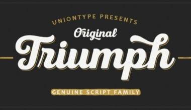 223892 380x220 - Font dňa – UT Triumph