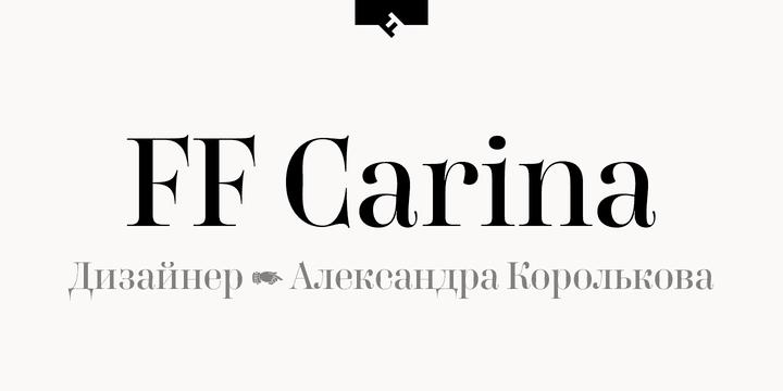 230823 - Font dňa – FF Carina