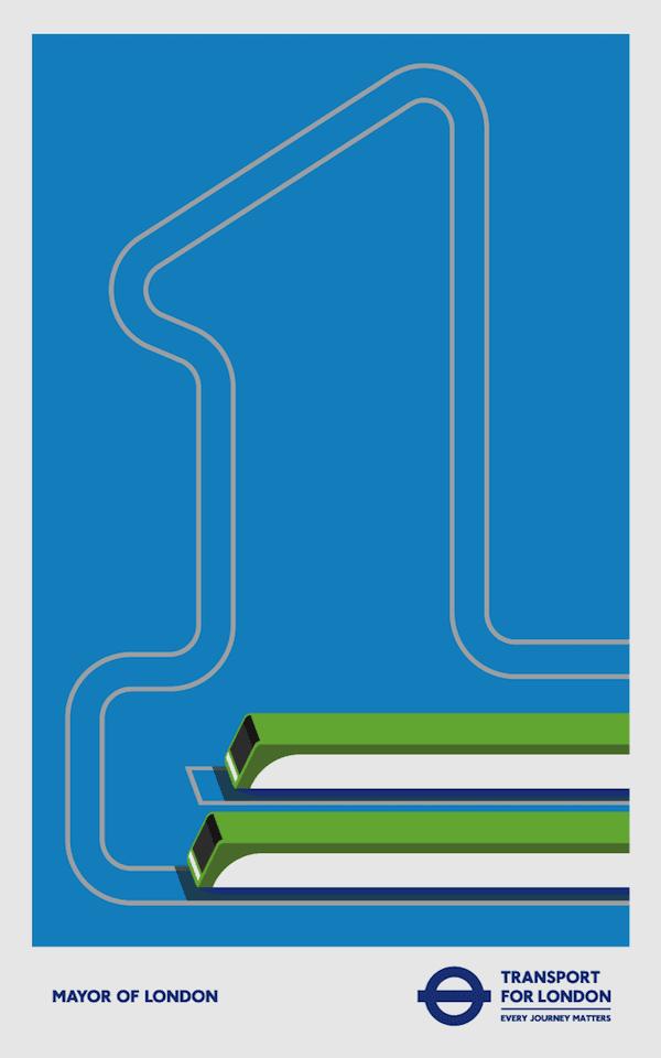 4 2 - Minimalistické postery Londýnskeho metra