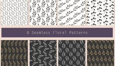 8 floral patters 1 2  380x220 - Set Floral patternov zadarmo!