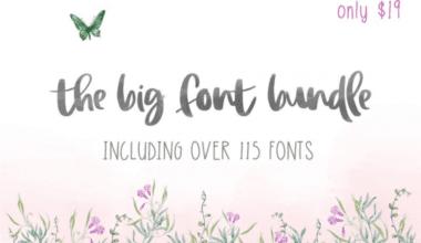 cover 1 380x220 - The Big Font Bundle s 99% zľavou!