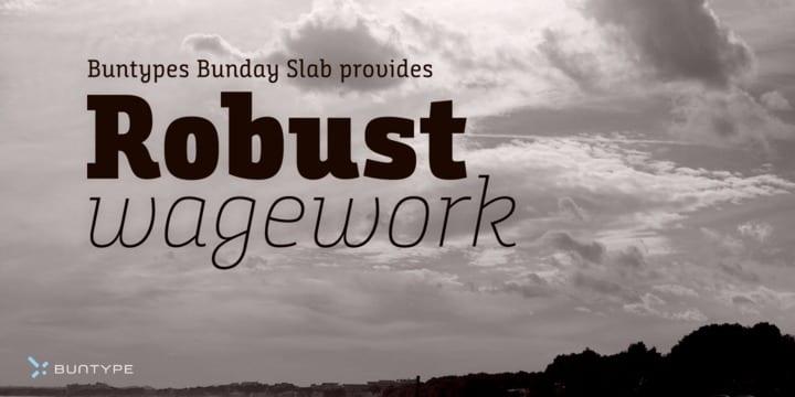 231042 - Font dňa – Bunday Slab