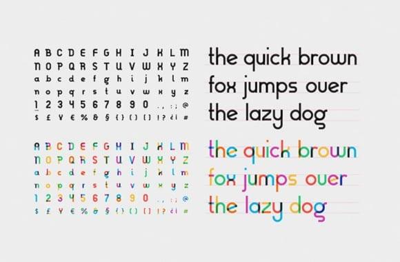 Type with Pride Gilbert Ogilvy TypeWithPride 10 580x380 - Font inšpirovaný autorom myšlienky Dúhového pochodu