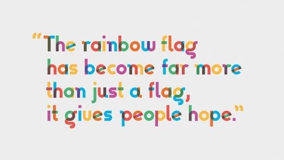 Type with Pride Gilbert OgilvyTypeWithPride 02 580x326 - Font inšpirovaný autorom myšlienky Dúhového pochodu