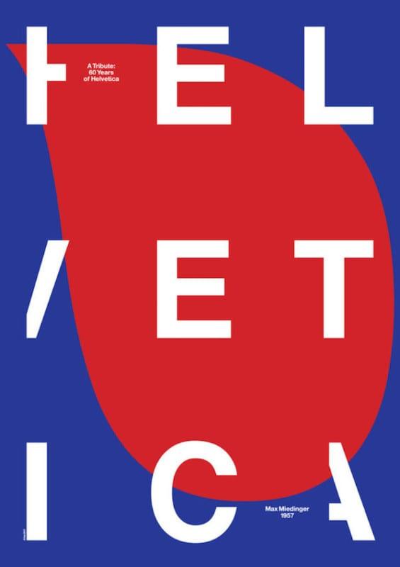 1 graphic designers helvetica typeface 60th anniversary posters 565x800 - Plagáty oslavujú - Helvetica má 60
