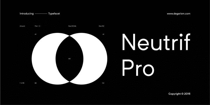 222887 - Font dňa – Neutrif Pro