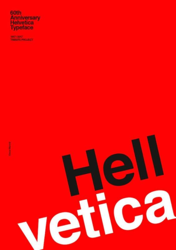 5 graphic designers helvetica typeface 60th anniversary posters 565x800 - Plagáty oslavujú - Helvetica má 60