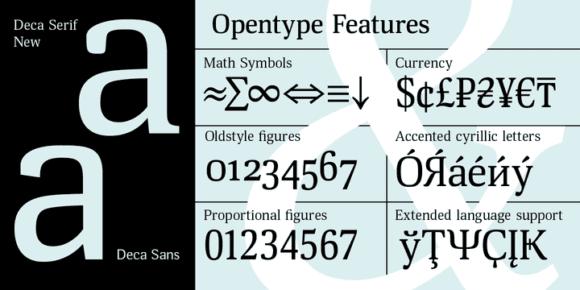 238892 580x290 - Font dňa – Deca Serif New