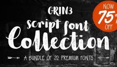 240096 380x220 - Font dňa – GRIN3 Script Font Bundle