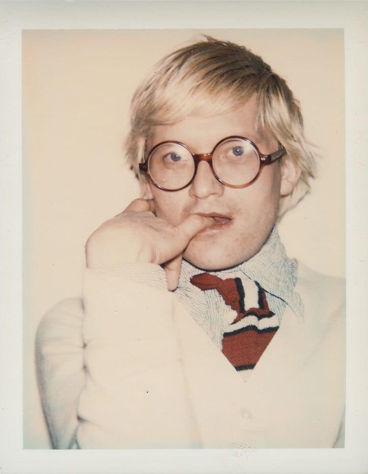 David Hockney  1973  Andy Warhol The Andy Warhol Foundation for the Visual Arts  Inc. All rights reserved  DACS 2017. Artimage. 2 - Doposiaľ nezverejnené snímky Davida Hockneyho z dielne Andyho Warhola