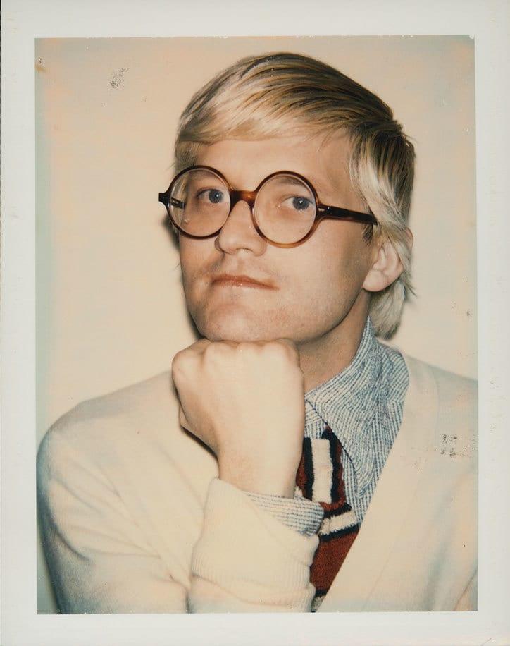 David Hockney  1973  Andy Warhol The Andy Warhol Foundation for the Visual Arts  Inc. All rights reserved  DACS 2017. Artimage. - Doposiaľ nezverejnené snímky Davida Hockneyho z dielne Andyho Warhola