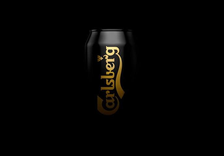 Kontrapunkt Carlsberg rebrand itsnicethat 2 - Black Gold Carlsberg v elegentanom obale