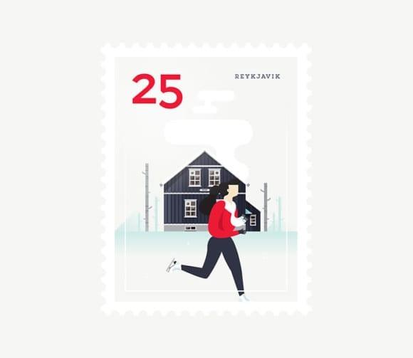 Reykjavik 580x503 - Ilustrované známky zachytávajú dominanty z celého sveta