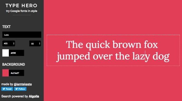 Type Hero Google Fonts Style Color 2 - Vyzkoušejte Google fonts v různých barvách a stylech s pohodlným nástrojem