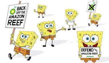 dont panic greenpeace spongebob squarepants advertising itsnicethat4 1 380x220 - Kampaň Greenpeace získala Spongeboba Squarepants jako ekologického aktivistu