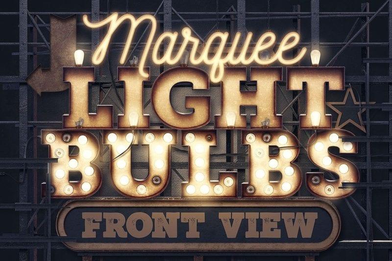 marqueelightbulbsfrontview00  800x533 - Efekt Vintage 3D svetených panelov za 19 dolárov!