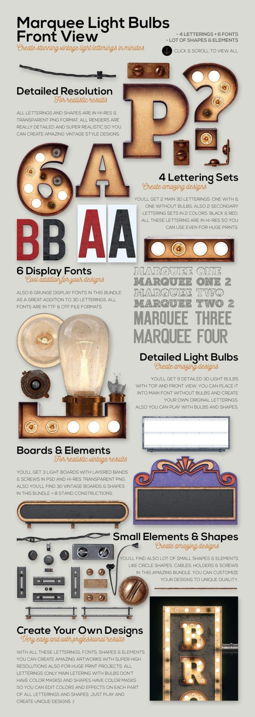 marqueelightbulbsfrontview02  - Efekt Vintage 3D svetených panelov za 19 dolárov!