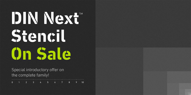 241015 - Font dňa – DIN Next Stencil