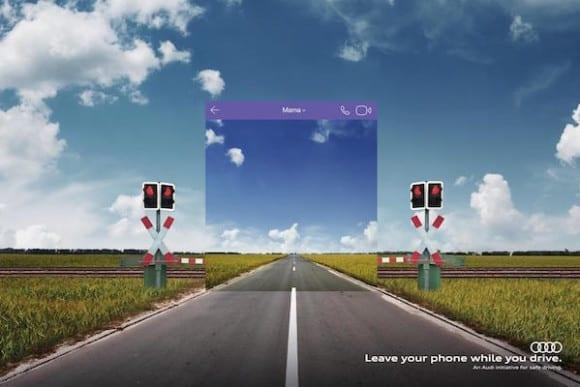 Audi Texting And Driving Leave Your Phone Warp Perception Print Ad Campaign 2 580x387 - Nová kampaň Audi: Mobil za volant nepatrí