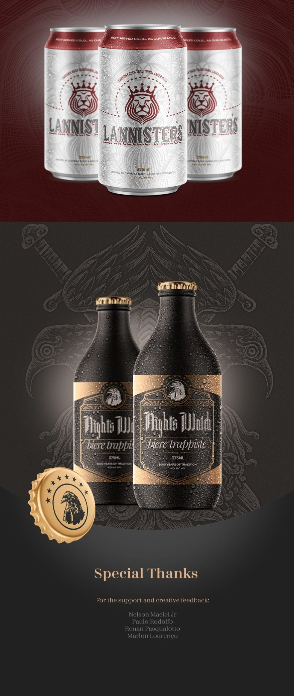 Game of Thrones Beers 4 - Řada piv Game of Thrones (koncept)