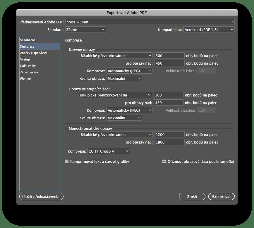 indesign export 2 - Príprava tlačového PDF – Adobe InDesign + export