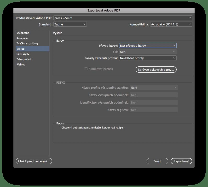 indesign export 4 - Príprava tlačového PDF – Adobe InDesign + export
