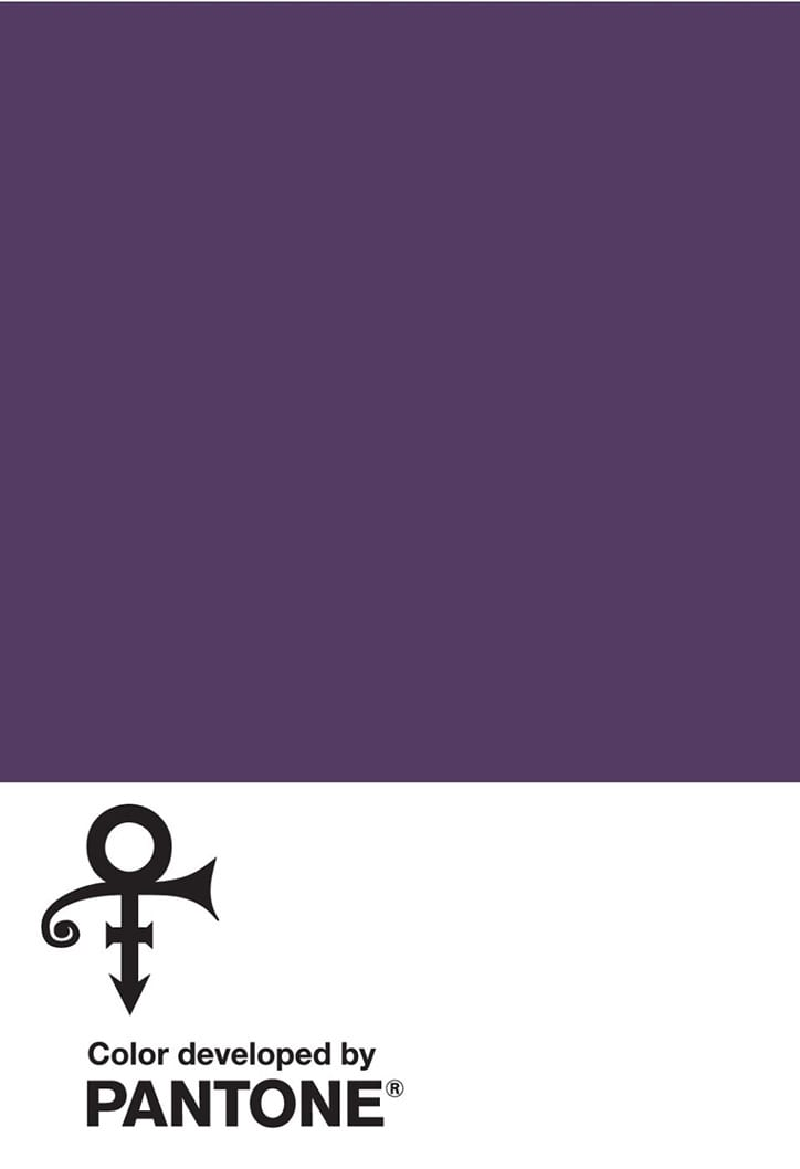 pantone Prince Purple Miscellaneous Its Nice That - Pantone uctívá Prince barvou Love Symbol #2