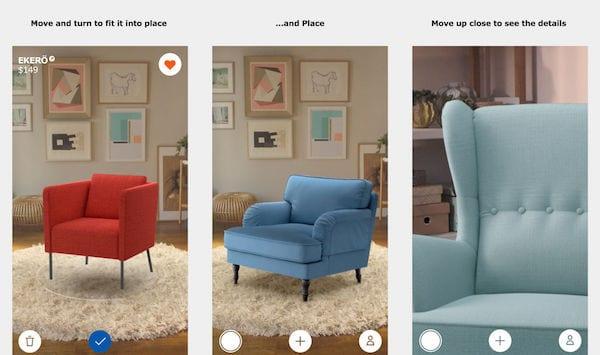 1 IKEA Place AR App 1 - Bezplatná aplikace AR od IKEA, která vám umožní vizualizovat předměty ve vašem domě
