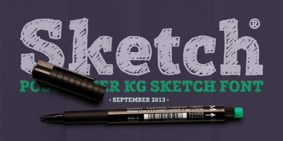 123884 1 580x290 - Font dňa – Posterizer KG Sketch