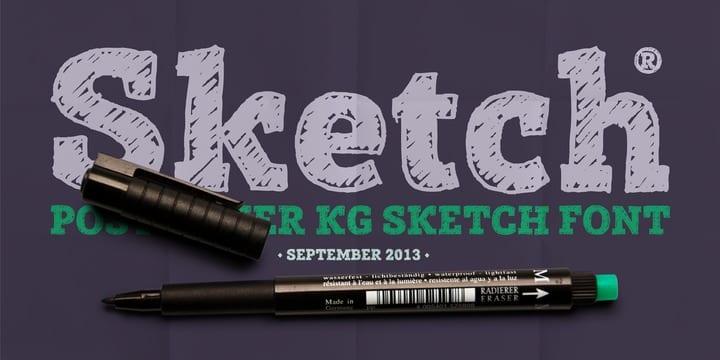 123884 1 - Font dňa – Posterizer KG Sketch