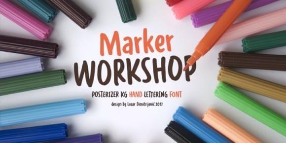238354 580x290 - Font dňa – WORKSHOP Marker