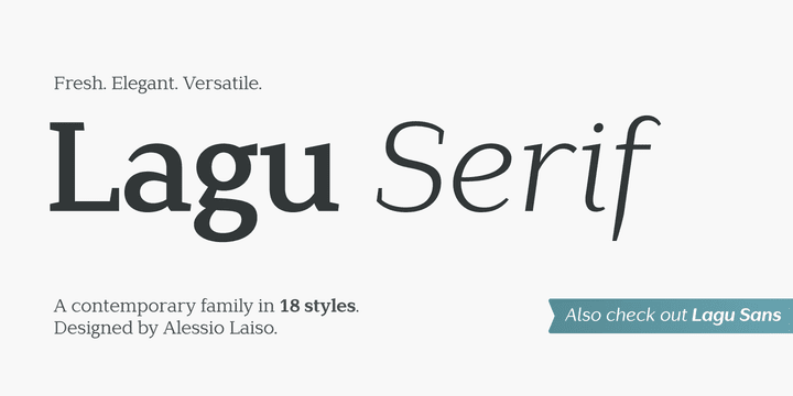 243351 - Font dňa – Lagu Serif