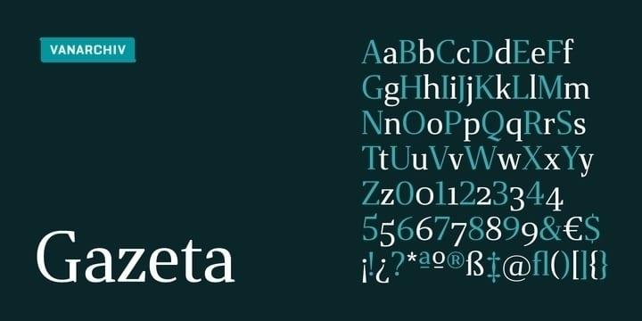 245163 - Font dňa – Gazeta