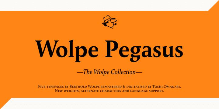 245281 - Font dňa – Wolpe Pegasus