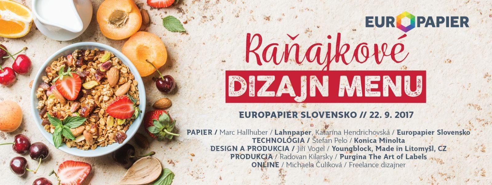 FB ranajkovedizajnmenu september - Raňajkové Dizajn MENU - Europapier Slovensko
