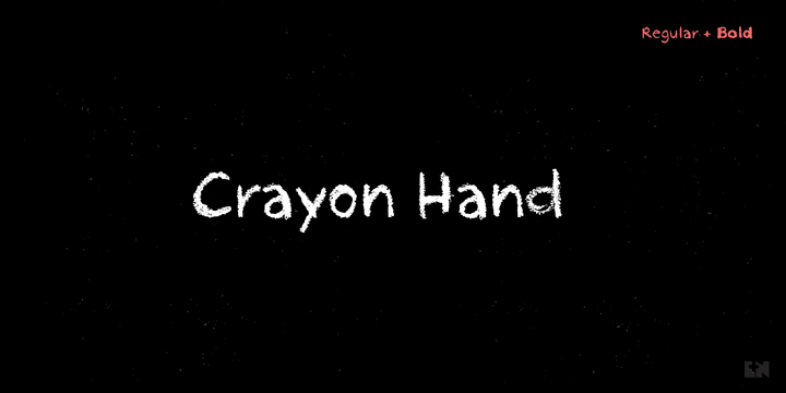 212843 - Font dňa – Crayon Hand