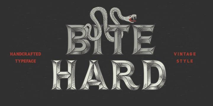 245494 - Font dňa – Bite Hard