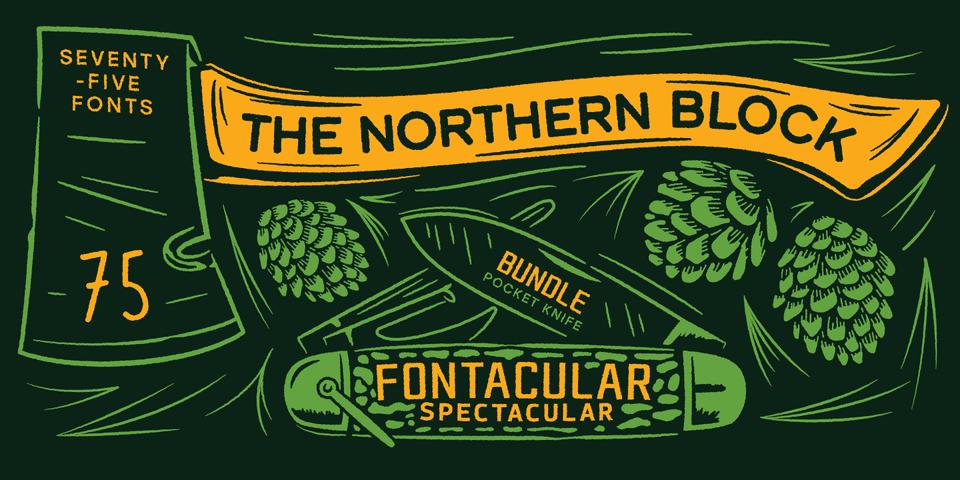 247345 - Font dňa – The Northern Block Fontacular Bundle