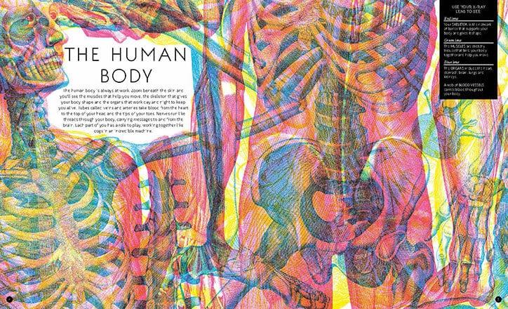 Carnovsky Illumanatomy book Wide Eyed editions publication itsnicethat 0 - Carnovsky ilustruje lidské tělo pod rentgenovým paprskem pomocí techniky RGB ilustrace