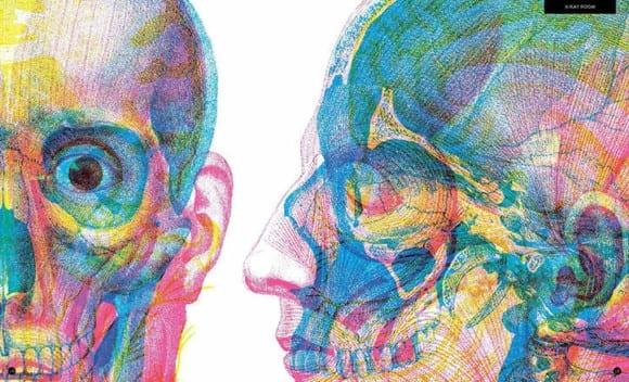 Carnovsky Illumanatomy book Wide Eyed editions publication itsnicethat 4 580x352 - Carnovsky ilustruje lidské tělo pod rentgenovým paprskem pomocí techniky RGB ilustrace