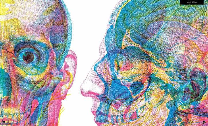 Carnovsky Illumanatomy book Wide Eyed editions publication itsnicethat 4 - Carnovsky ilustruje lidské tělo pod rentgenovým paprskem pomocí techniky RGB ilustrace